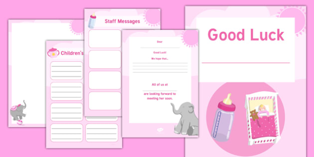 Maternity Leave   Baby Girl Activity Booklet