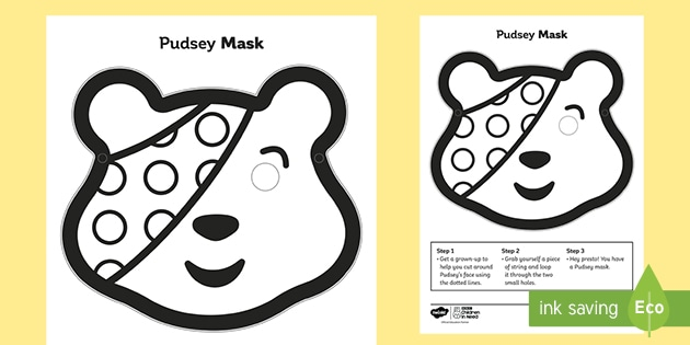 BBC Children in Need Pudsey Role-Play Mask
