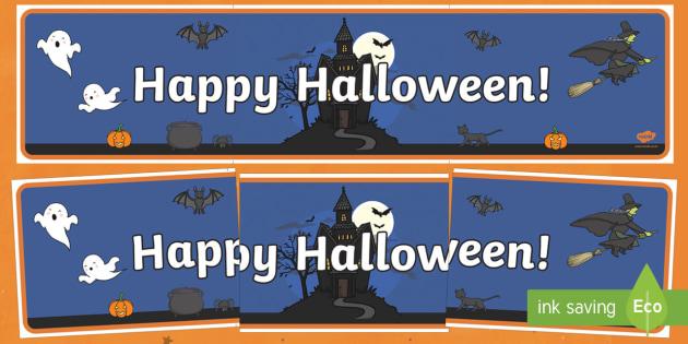 Happy Halloween Display Banner