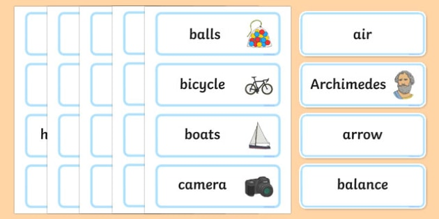 Push, Pull Word Wall Display Cards - australia, Australian Curriculum, Push Pull, science, Year 2, word wall, display