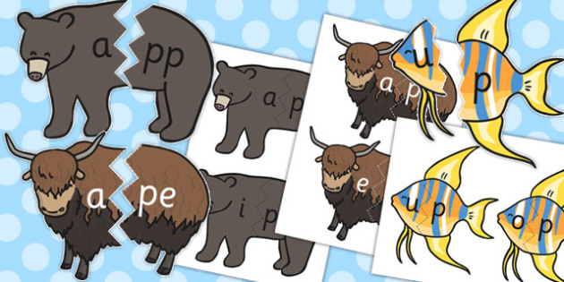 Vowel And Final P Sound Animal Jigsaw - jigsaws, sounds, vowels