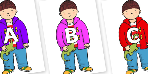 A-Z Alphabet on Harry to Support Teaching on Harry and the Bucketful of Dinosaurs - A-Z, A4, display, Alphabet frieze, Display letters, Letter posters, A-Z letters, Alphabet flashcards