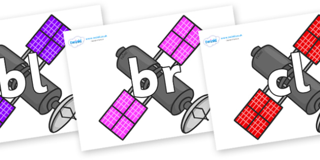 Initial Letter Blends on Satellites - Initial Letters, initial letter, letter blend, letter blends, consonant, consonants, digraph, trigraph, literacy, alphabet, letters, foundation stage literacy