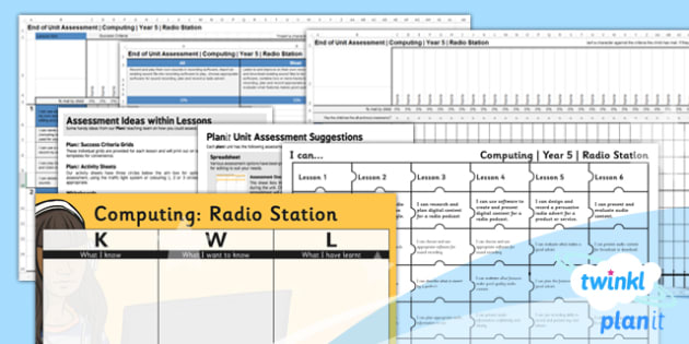 Computing: Radio Station Year 5 Unit Assessment Pack