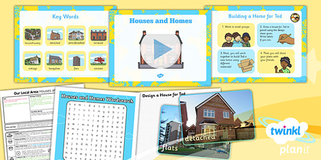 Geography: Our Local Area: Houses and Homes Year 1 Lesson Pack 4
