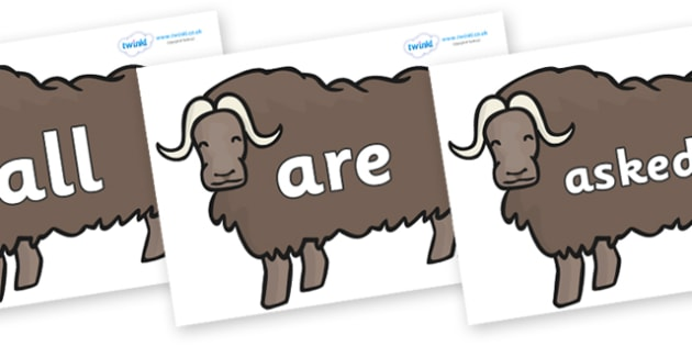 Tricky Words on Chinese Ox - Tricky words, DfES Letters and Sounds, Letters and sounds, display, words
