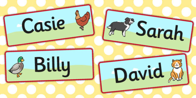 The Little Red Hen Editable Drawer Peg Name Labels - labels, hen