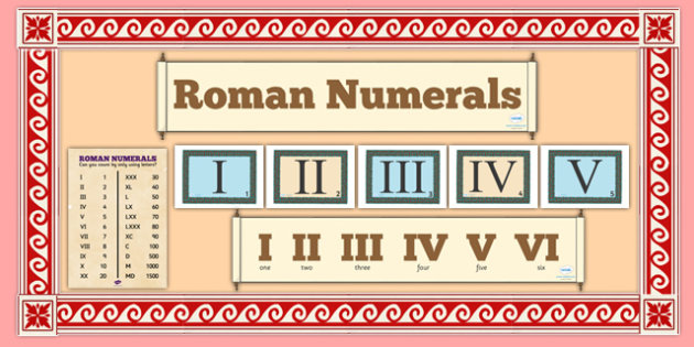Roman Numerals Display Pack (teacher made)