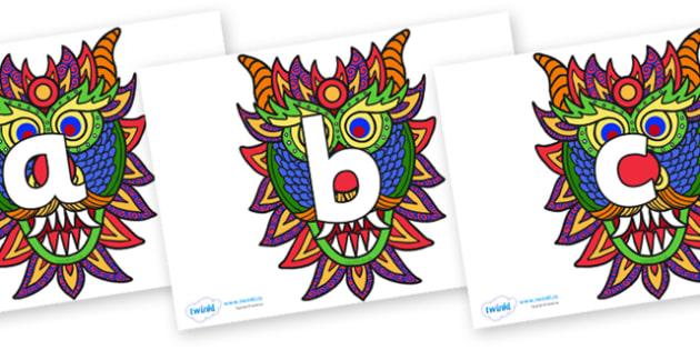 Phoneme Set on Chinese New Year Dragon Mask - Phoneme set, phonemes, phoneme, Letters and Sounds, DfES, display, Phase 1, Phase 2, Phase 3, Phase 5, Foundation, Literacy