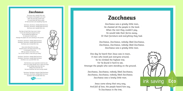 Zacchaeus Song - ROI - Hymns and Religious Songs, Music