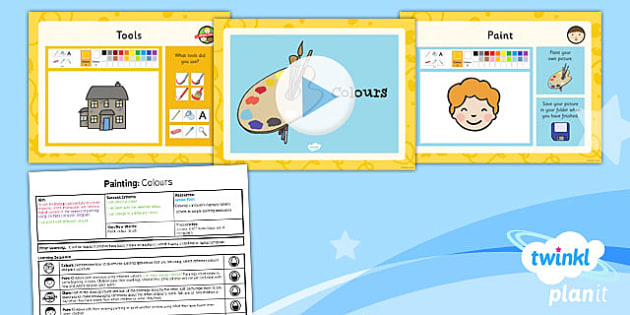 Computing: Painting: Colours Year 1 Lesson Pack 1