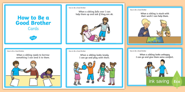 How To Be A Good Brother Cards - how to be, good, brother, cards, behaviour