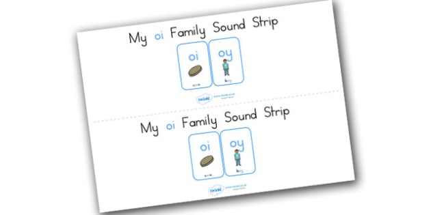 My Oi Family Sound Strip - sound family, visual aid, literacy