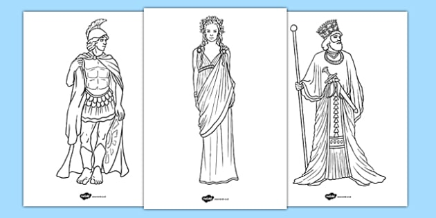 Ancient Greek Figures Colouring Pages   Ancient Greek, Figures, Colouring,  Colour, Sheet