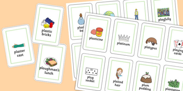 Three Syllable PL Sound Playing Cards - sen, sound, special educational needs, pl, playing cards