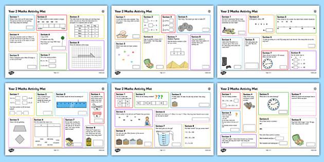 Year 2 Summer 2 Maths Activity Mats