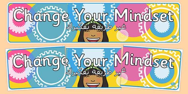 Change your Mindset Display Banner Arabic Translation - arabic, change your mindset, display banner, display