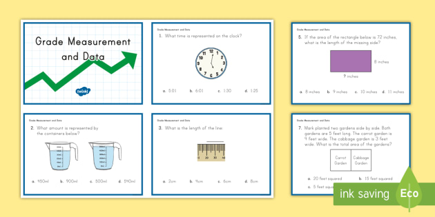 3rd Grade Measurement and Data Online Assessment Practice Activity ...