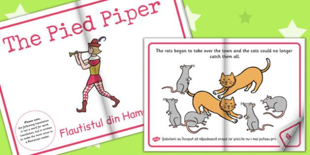 The Pied Piper eBook EAL Romanian Translation - Romanian, ebook
