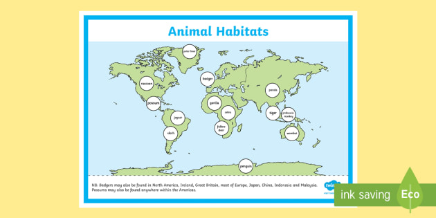 World map animal habitat display poster display poster world world map animal habitat display poster display poster world map animal habitat labelling activity gumiabroncs Image collections