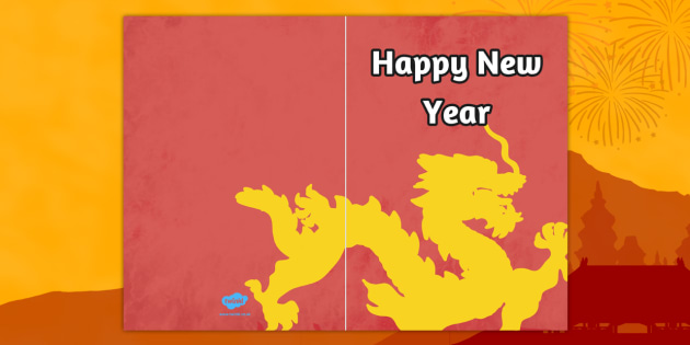 Chinese New Year Greeting Cards Cards Card Templates