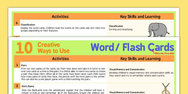 10 Creative Ways to Use Word Cards - word, cards, creative, use