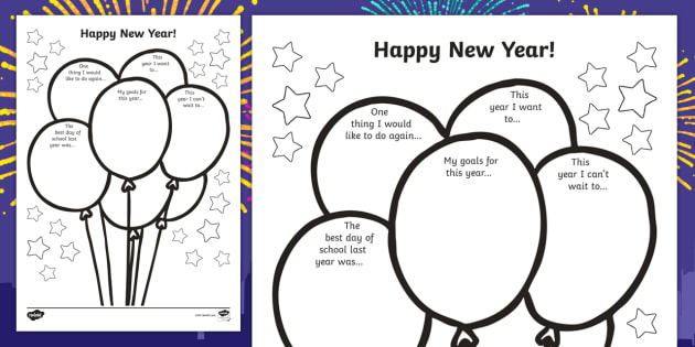 Happy New Year Activity sheet - new year, worksheet / activity