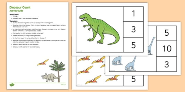 EYFS Dinosaur Count Busy Bag Resource Pack for Parents