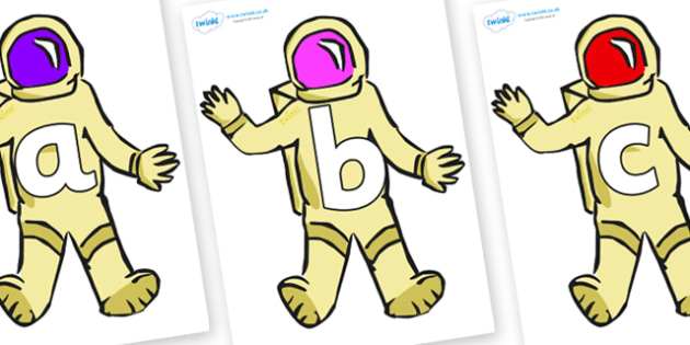 Phoneme Set on Astronauts - Phoneme set, phonemes, phoneme, Letters and Sounds, DfES, display, Phase 1, Phase 2, Phase 3, Phase 5, Foundation, Literacy