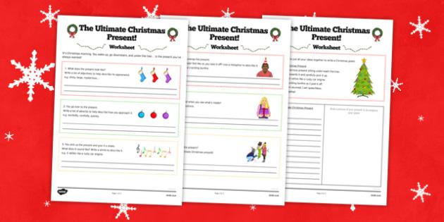 The Ultimate Christmas Present Worksheet - ultimate, christmas, present, worksheet