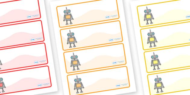 Editable Drawer - Peg - Name Labels (Robots) - Classroom Label Templates, robot, robots, Resource Labels, Name Labels, Editable Labels, Drawer Labels, Coat Peg Labels, Peg Label, KS1 Labels, Foundation Labels, Foundation Stage Labels, Teaching Labels