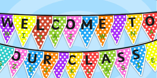 Welcome to Our Class Display Bunting Polish Translation - Classroom, organisation, display, title