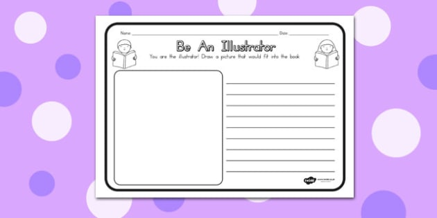 Be an Illustrator Comprehension Worksheet - australia, worksheet