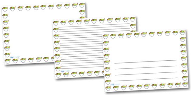 Bowl of Fruit Landscape Page Borders- Landscape Page Borders - Page border, border, writing template, writing aid, writing frame, a4 border, template, templates, landscape