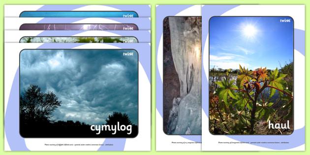 Weather Display Photos Welsh Translation - weather, season, wales