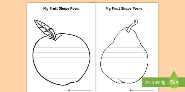 fruit shape poetry fruit shape poem creative writing. Black Bedroom Furniture Sets. Home Design Ideas