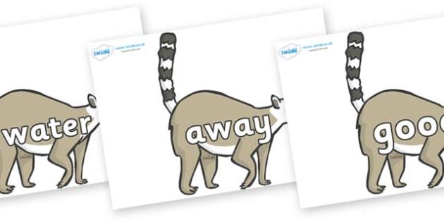 Next 200 Common Words on Lemurs - Next 200 Common Words on  - DfES Letters and Sounds, Letters and Sounds, Letters and sounds words, Common words, 200 common words