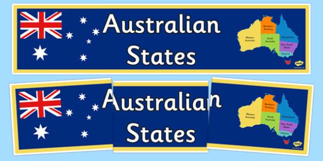 Australian States Display Banner - australia, States and Territories, display