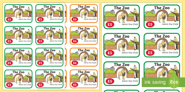 Zoo Role Play Tickets - Zoo Role Play, zoo, at the zoo