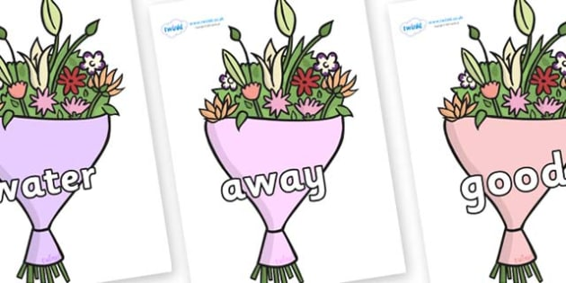 Next 200 Common Words on Bouquets - Next 200 Common Words on  - DfES Letters and Sounds, Letters and Sounds, Letters and sounds words, Common words, 200 common words