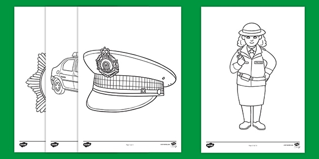 Woman Police Officer coloring page | Free Printable Coloring Pages | 315x630