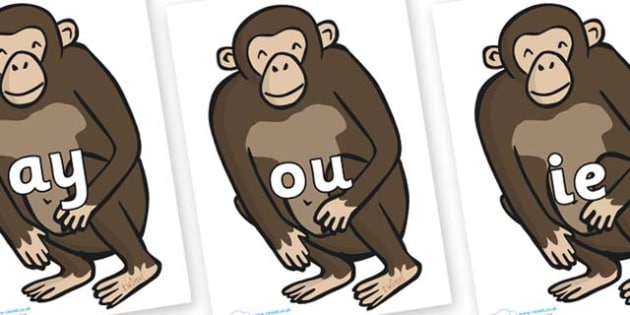 Phase 5 Phonemes on Chimps - Phonemes, phoneme, Phase 5, Phase five, Foundation, Literacy, Letters and Sounds, DfES, display