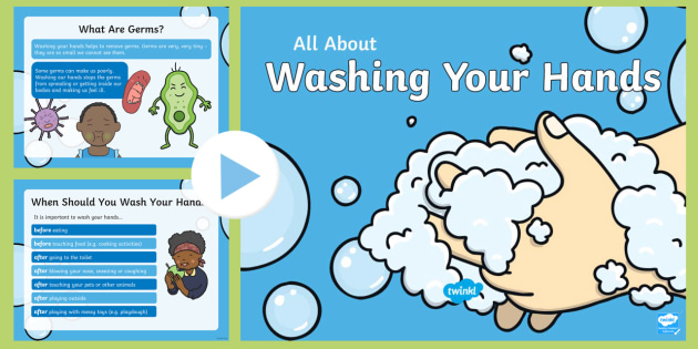 Kindergarten All About Washing Your Hands Powerpoint