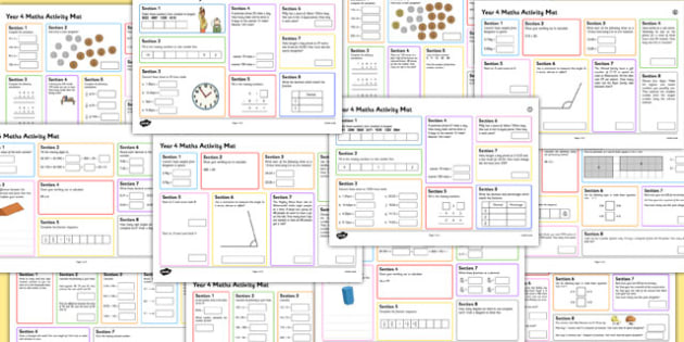 Year 4 Summer Maths Activity Mats