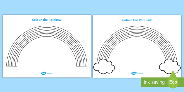 Colour the Rainbow Worksheet Rainbow colouring sheet
