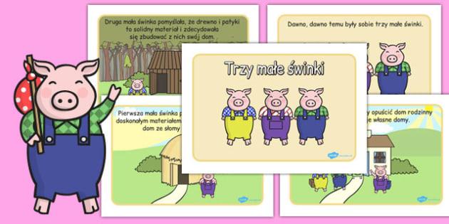 Trzy male swinki po polsku (format A4), Polish
