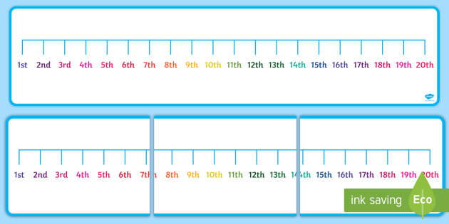 Ordinal Number Line 1st to 20th - ordinal number, number line, 1st, 20th