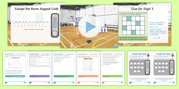 Maths Escape Room - UKS2 Resource Game - Primary Resources