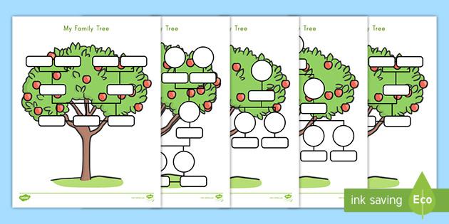 Family Tree Worksheet - Twinkl