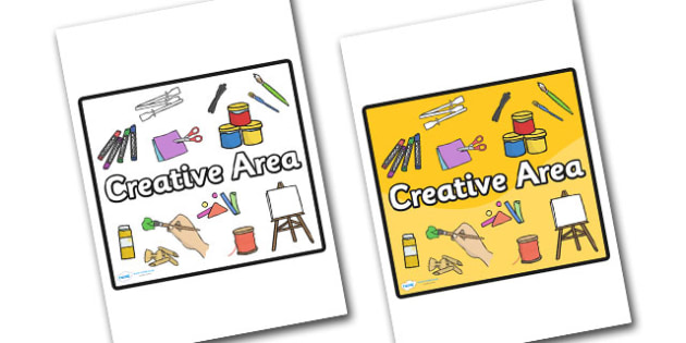 Creative Area Sign - sign, display sign, area display sign, area sign, area, creative, creative area, creative sign, creative classroom sign, classroom areas, school areas, classroom area signs, topic signs, topic area signs